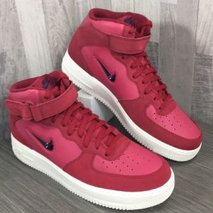 Nike Air Force 1 Mid '07 LV8 red crush/obsidian
